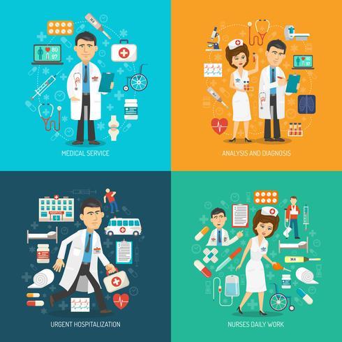 Concetto di assistenza medica vettore