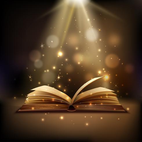 Sfondo magico libro vettore