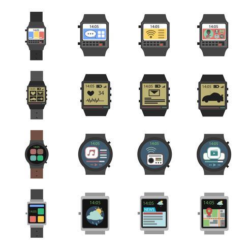 icona orologio intelligente piatta vettore