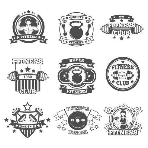 Set di emblemi della palestra vettore