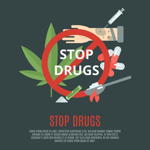 fermare il concetto di droga vettore