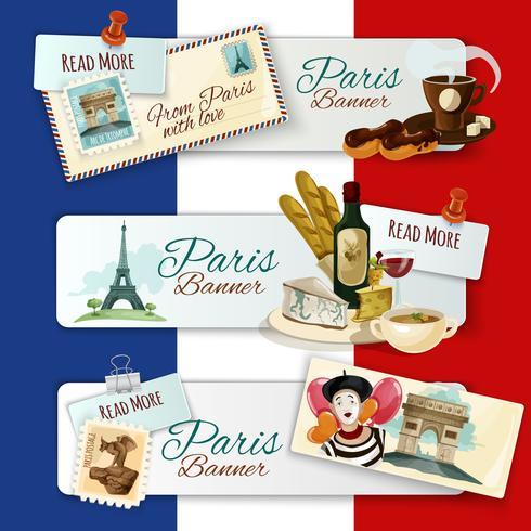 Bandiere turistiche di Parigi vettore