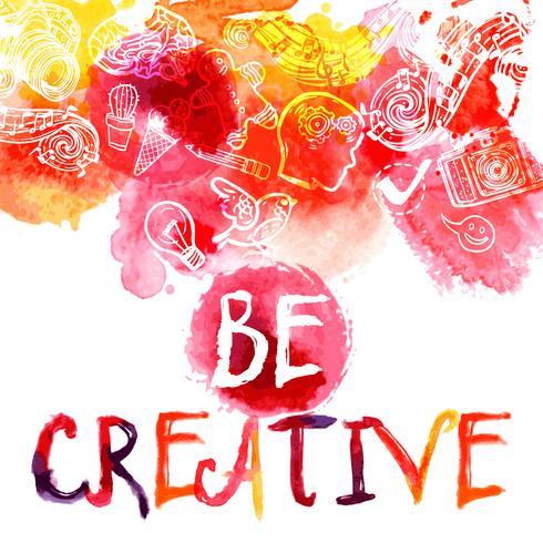Concetto di creatività ad acquerello vettore