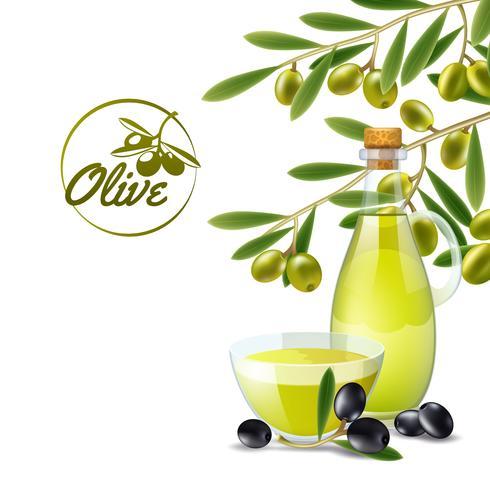 Versatore di olio d'oliva backdround vettore