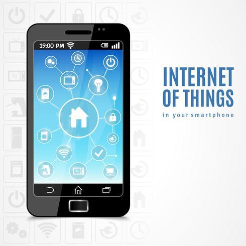 Telefono Internet of Things vettore