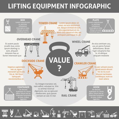 Infografica attrezzature industriali vettore