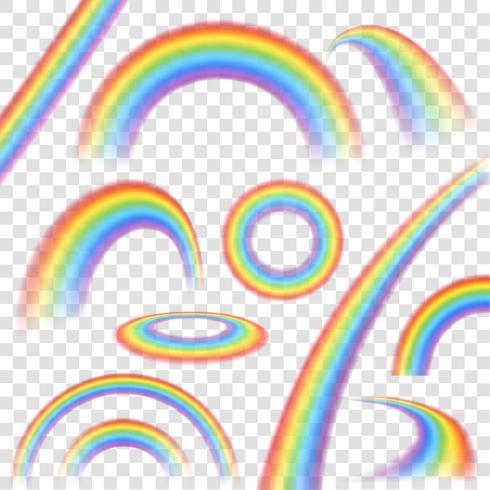 Arcobaleno trasparente Set vettore