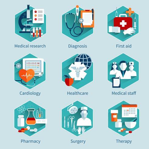 Set di concetti medici vettore