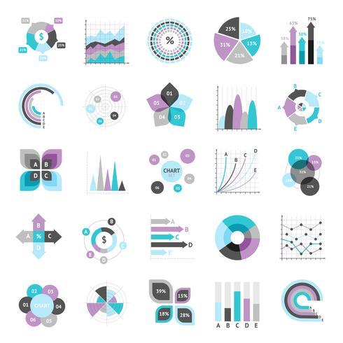 Set di grafici aziendali vettore