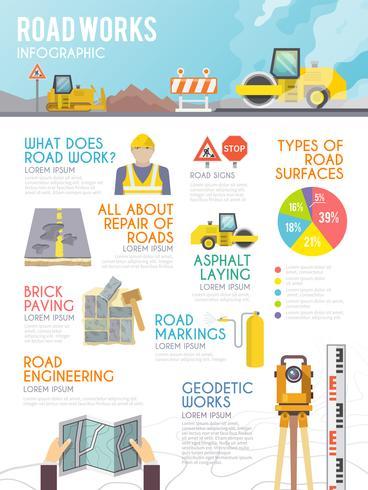 Infographics del lavoratore di strada vettore