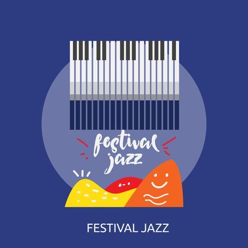 Festival Jazz Design illustrazione concettuale vettore