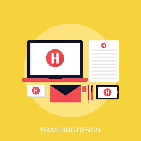 Disegno dell'illustrazione concettuale di branding vettore