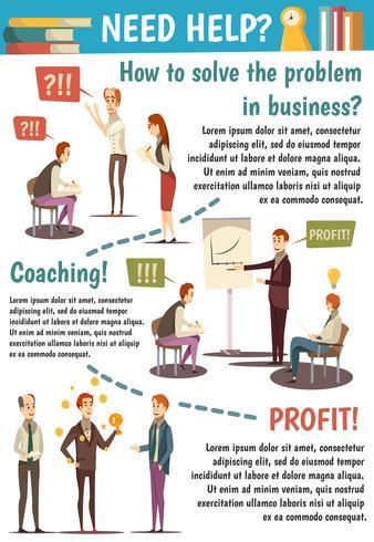 Business trainings e coaching diagramma di flusso vettore