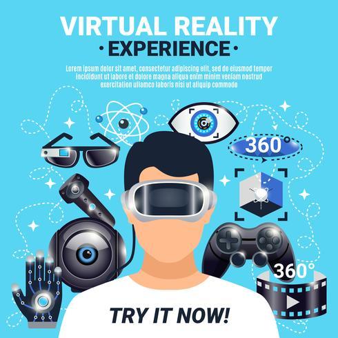 Poster di realtà virtuale vettore