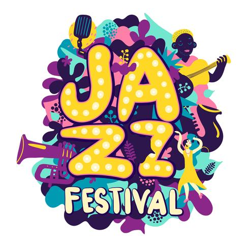 Composizione Jazz Festival vettore
