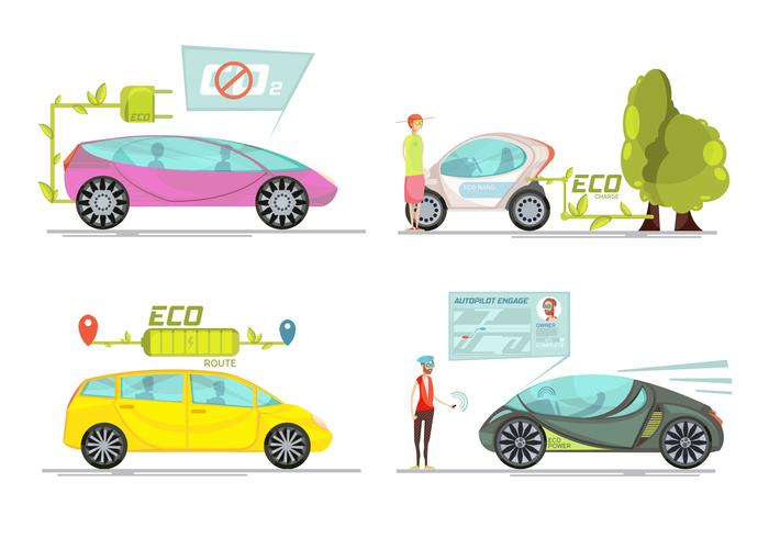 concetto di auto elettrica vettore