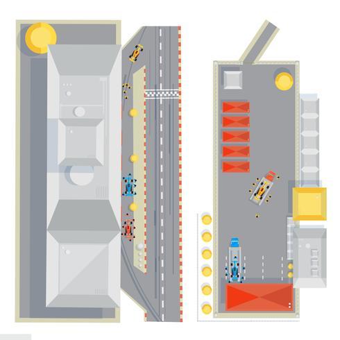 Composizione piatta pista da corsa vettore