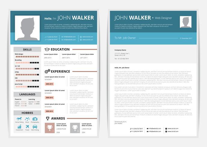 Illustrazione della pagina Web CV vettore