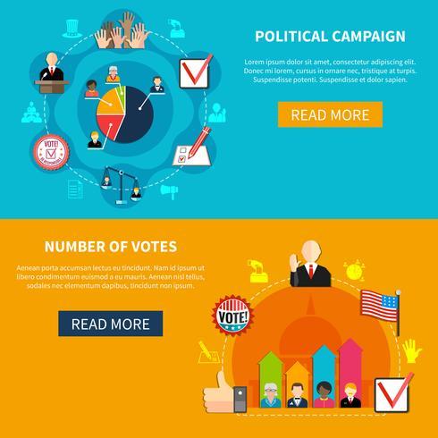 Campagna di agitazione elettorale vettore