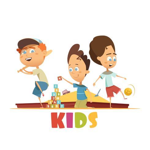 Giocare il concetto di bambini vettore