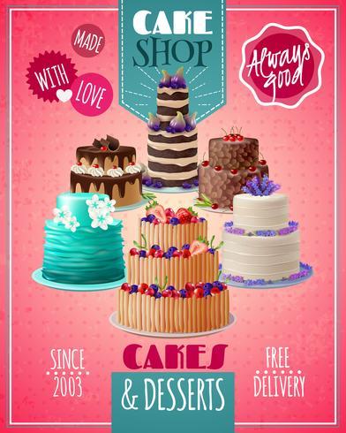 Poster di torte al forno vettore