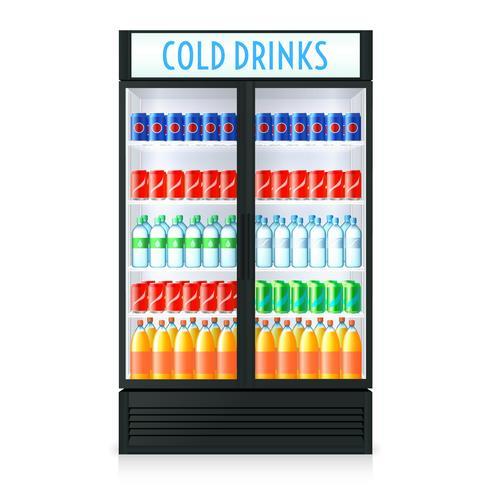 Modello di frigorifero verticale vettore
