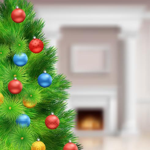 Modello di Natale festivo vettore