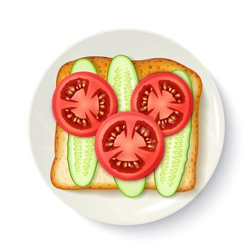 Immagine appetitosa di vista superiore appetitosa della prima colazione vettore