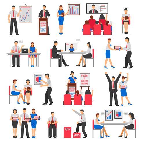 Set di formazione aziendale vettore