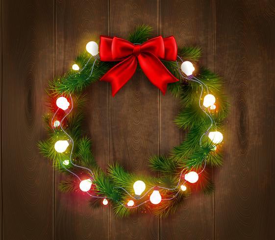 Modello di corona di Natale vettore