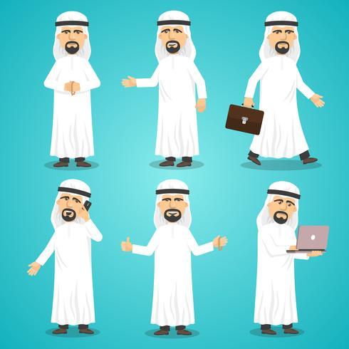 Set di immagini arabe vettore