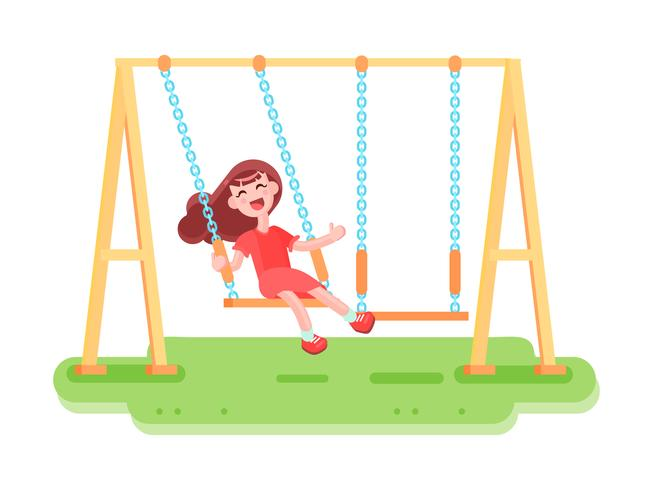 Altalena per bambini oscillante Composizione vettore