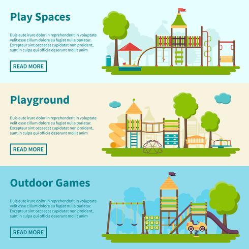 Banner di concetto di parco giochi vettore