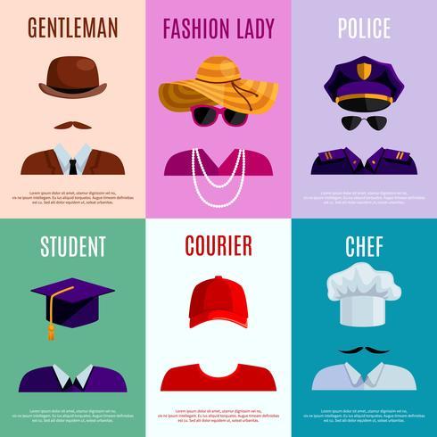 Mini Posters con Cappelli Cappelli vettore