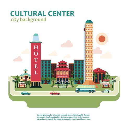Sfondo città centro culturale vettore