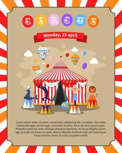 Illustrazione del manifesto del circo vettore