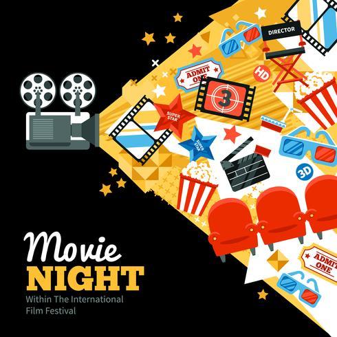 Poster del Festival del Cinema vettore
