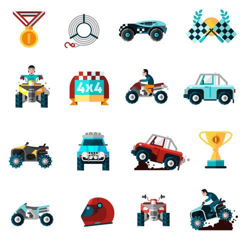 Set di icone Offroad vettore