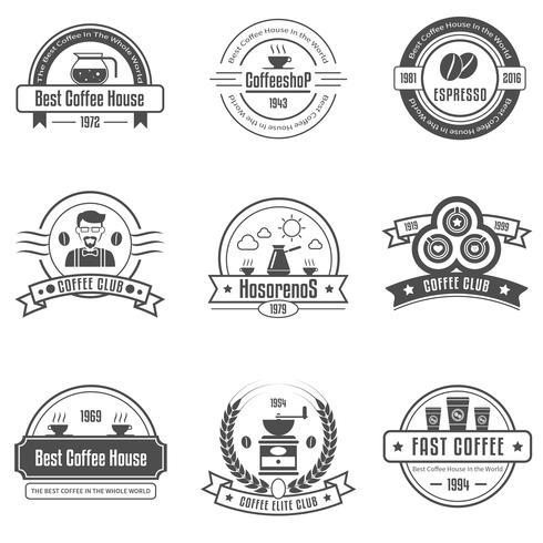 Emblemi della casa del caffè messi vettore