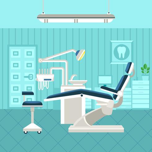 Poster della stanza dentale vettore