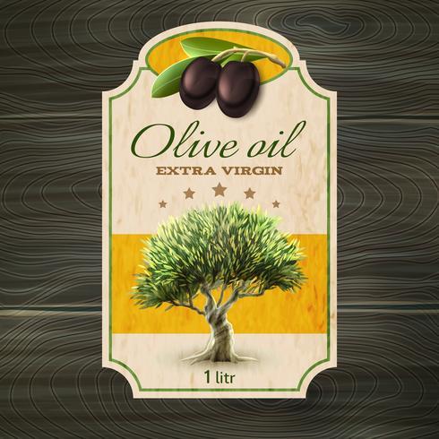 Stampa etichetta olio d'oliva vettore
