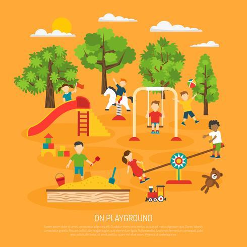 Poster per bambini vettore