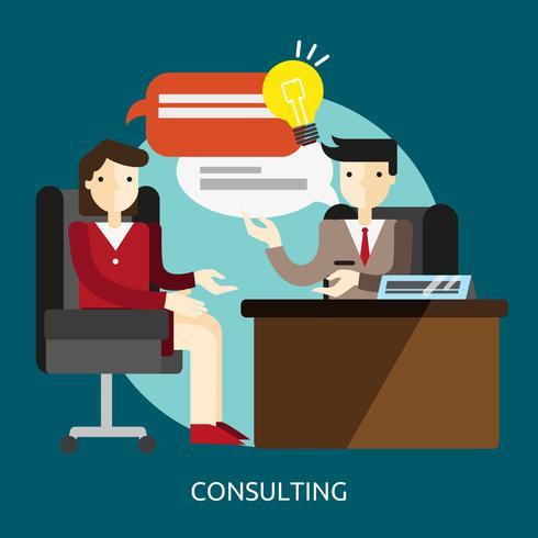 Consulenza progettazione illustrazione concettuale vettore