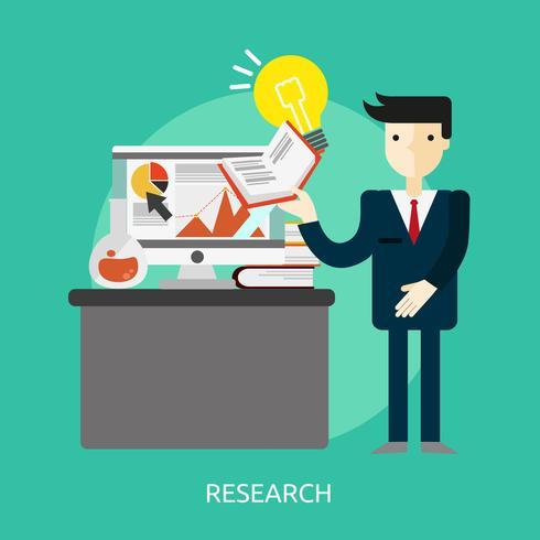 Disegno dell'illustrazione concettuale di ricerca vettore