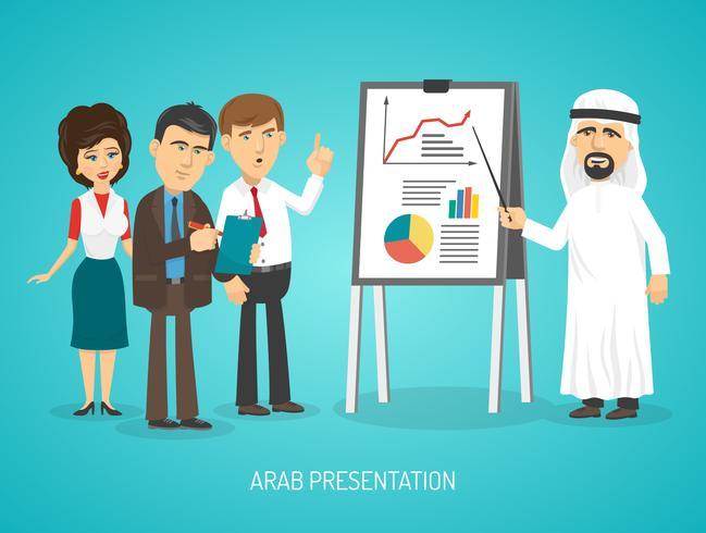 Poster di presentazione araba vettore