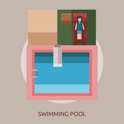 Progettazione dell'illustrazione concettuale della piscina vettore