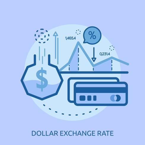 Progettazione concettuale dell'illustrazione di tasso di cambio dell'euro vettore