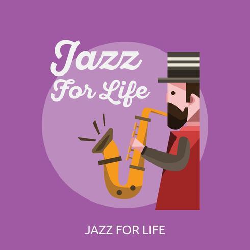 Disegno dell'illustrazione concettuale di Jazz For Life vettore