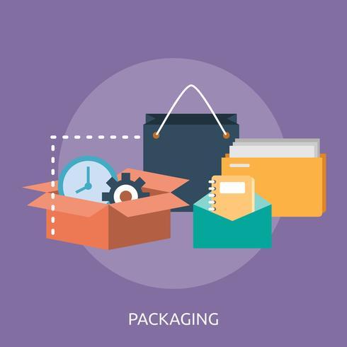 Imballaggio concettuale illustrazione design vettore