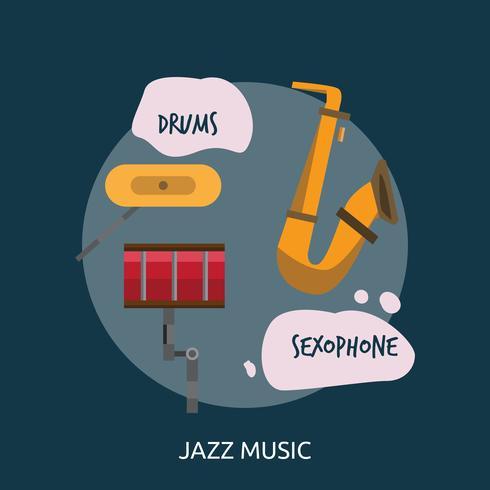 Disegno concettuale dell'illustrazione di musica di jazz vettore